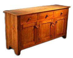 Reclaimed Barn Wood Furniture, Barn Wood Server, 3 Over 3