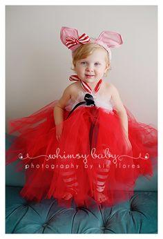 Olivia the Pig Tutu Dress.  Birthday/Halloween costume