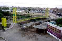 5 de marzo: Puente peatonal colgante sobre el río Chillón en la Asociación de Vivienda Los Huertos de Chillón, ubicado en los límites de los distritos de Puente Piedra y Los Olivos
