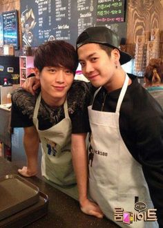 Seo Kang Joon and Jackson and coffee shop