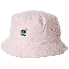 1aff95a6f6e Rvca Sirens Bucket Hat Pink ( 16) ❤ liked on Polyvore featuring  accessories