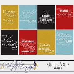 Free Walt Disney Quotes Journal Cards from Mouse Scrappers {on Facebook}