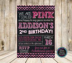 Pinkalicious Birthday Digital Invitation by MsThirdGrade on Etsy