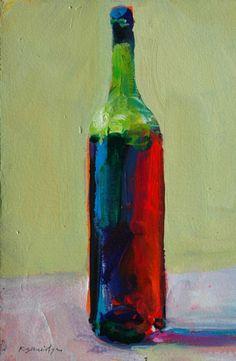 Finished Wine Bottle Painting