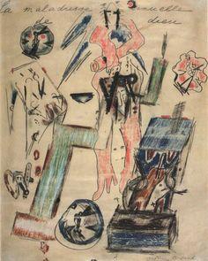 alfiusdebux:  Antonin Artaud- La Maladresse sexuelle de dieu, 1946.