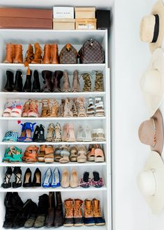 Keep your closet organized with this simple shoe storage solution. This creative shelf display allows you to easily line up each and every pair for you to quickly view and grab when on-the-go. When you need to accessorize your perfect outfit, pick out a pair of Clarks shoes to complete your stylish and trendy look.
