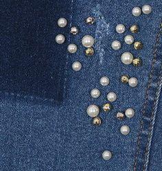 #Beaded Skinny Jeans  Jeans Shorts #2dayslook #JeansShorts #sunayildirim  www.2dayslook.com