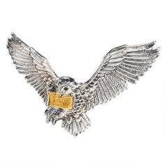 Harry Potter Sterling Silver Flying Hedwig Brooch by Noble Collection |