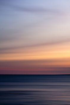 Fine Art Abstract Landscape 5x7  Photo Print Seascape Sunset Summer Wall Art Home Decor Blue Orange Yellow Pink Coastal Beach Mood Soft. $18.00, via Etsy.