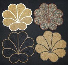 Embroidered Placemats with Beads