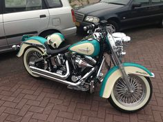 Great looking Harley Davidson Heritage Softail <3 This~Ride~ has My Name..on IT:)