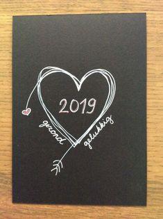 Diy Christmas Cards, Xmas Cards, Christmas And New Year, Diy Cards, Christmas Crafts, Greeting Cards, Happy New Year Cards, Happy New Year 2019, New Year Diy