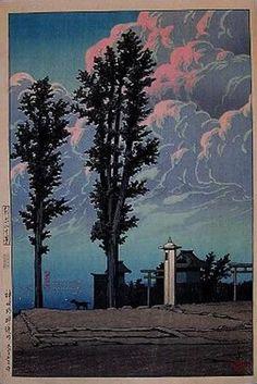"""""""Kanda Myojin Shrine"""" by Kawase Hasui, no date"""