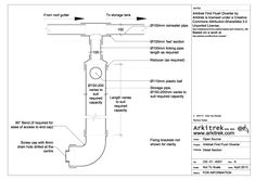 Water conservation: Technical drawing for making a first flush diverter for rainwater harvesting with creative commons license. Water Collection System, Rain Collection, Rainwater Harvesting System, Water From Air, Water Storage Tanks, Soil Layers, Water Conservation, Heating Systems, Hydroponics