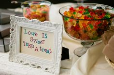 Cute candy table sign
