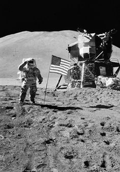 This is one of the most recognizable photos in history of our country. Neil Armstrong, first man on the moon, just about every kid in this country knows this or should know this.