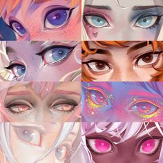 No photo description available. Digital Painting Tutorials, Digital Art Tutorial, Art Tutorials, Concept Art Tutorial, Digital Paintings, Eyes Artwork, Cute Art Styles, Art Reference Poses, Hand Reference