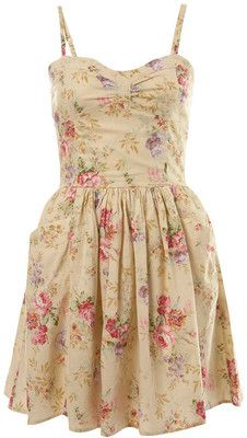 Rose Print Sun Dress Umm-Yumm! Would look great with my rose shorties........OR, the beige with turquoise embroidery! No WAIT!...the cocoa mushroom half halfs, yeah!...OH