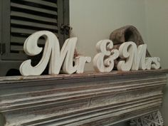 Handpainted Freestanding Wedding Letters - Mr & Mrs