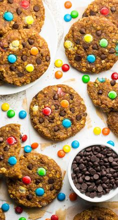 Healthy Pumpkin Monster Cookies