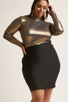 Product Name:Plus Size Caged Cutout Skirt, Category:CLEARANCE_ZERO, Price:17.9