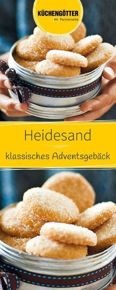 Heidesand Recipe for heather sand, pastries for Christmas Cookie Recipes From Scratch, Healthy Cookie Recipes, Oatmeal Cookie Recipes, Chocolate Cookie Recipes, Banana Bread Recipes, Healthy Chocolate, Cake Chocolate, Peanut Butter Cookie Recipe, Sugar Cookies Recipe