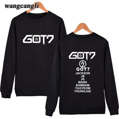 >> Click to Buy << GOT7 2017 Korean Male Group Casual Men/Women Capless Sweatshirt Hoodies Kpop Cool Spring Clothes With mens sweatshirts hoodies #Affiliate