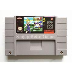 Super Nintendo SFC/SNES Dragon Ball Z SuperButouden 3 Video Game Cartridge Console Card English Language NTSC US Version