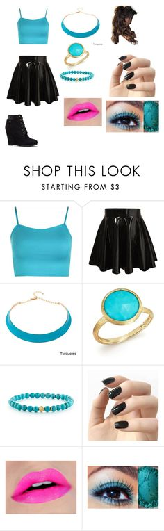 """""""Black and blue"""" by katekat412 on Polyvore featuring WearAll, Alexa Starr, Marco Bicego, Lagos and Incoco"""