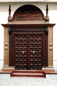 Main Entrance Door Design, Wooden Front Door Design, Wooden Front Doors, Custom Wood Doors, Pooja Room Door Design, Double Doors Interior, Cool Doors, Antique Doors, Windows And Doors