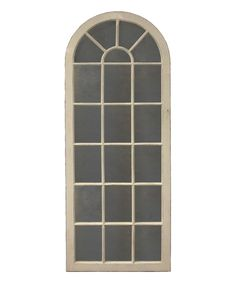 Take a look at this White Round-Top Window Wall Mirror today!