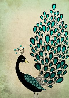 It took me forever to finish this one. Per usual, my idea was slightly different. I wanted to draw a huge illustration of a peacock with l. Peacock Drawing, Peacock Painting, Peacock Art, Peacock Design, Peacock Crafts, Peacock Theme, Peacock Images, Peacock Pictures, Saree Painting