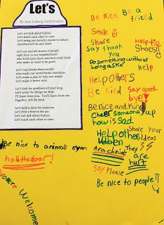 "See how a class celebrates kindness by reading and writing around the poem, ""Let's."""