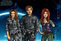 My three favorite post-ROTJ Star Wars legends characters Jaina Solo, Jacen Solo, and Tenel Ka.