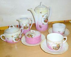 aparelho de chá rosa com dourado - Pesquisa Google