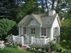 Lovely Tiny House Ideas For Spring And Summer Lifestyle 22 If you intend to build a small house and are trying to prevent all the expense and hassle of conventional house site development. Tiny House Cabin, Tiny House Living, Little Cottages, Little Houses, Small Cottages, Cute Cottage, Cottage Style, Building A Small House, Backyard Sheds