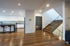 Stairs | Staircase | Glass Balustrade | Timber | Stainless Steel Handrail | Lighting | Flooring | Interior Design