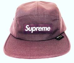 06358498125 Supreme NY Purple Box Logo Waterproof Cordura Camp Cap Hat SS18 DS  AUTHENTIC  fashion