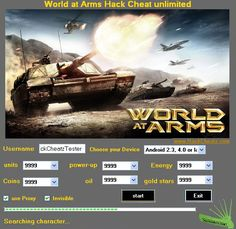 World at Arms Hack Cheat Tool [generator for pc, android, ios]