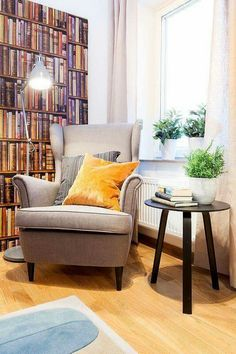 Relaxing reading nook design ideas for you to use. Over thirty gorgeous and relaxing reading nook corners. Feed your design ideas now. Cosy Reading Corner, Reading Nook Closet, Cozy Corner, Reading Nooks, Reading Corners, Book Nooks, Coffee Table Design, Coffee Tables, Strandmon Ikea