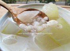 Annielicious Food: Winter Melon with Barley Dessert (冬瓜薏米糖水)