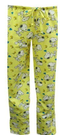 Lili- Snoopy pajamas... I sort of adore these pants! And we could really wash them out and make them look loved.