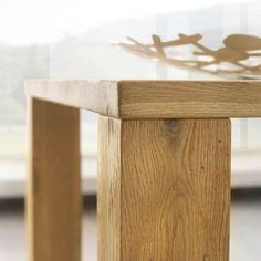 Table de salle à manger contemporaine en chêne massif - Rectangle - 3