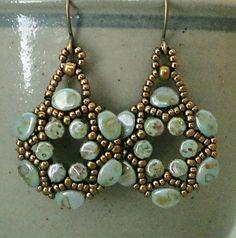 Linda's Crafty Inspirations: Evangelina Earrings - Arula Earrings with Pinch Beads