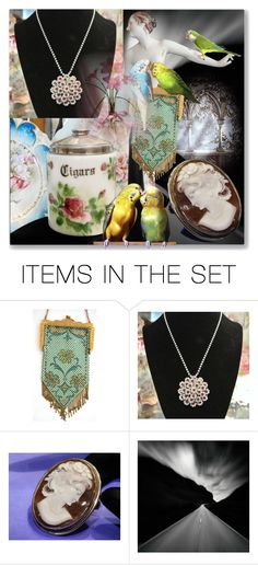 Love Birds by pattysporcelainetc on Polyvore featuring art, vintage and country