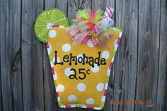 LEMONADE Burlap Door Hanger