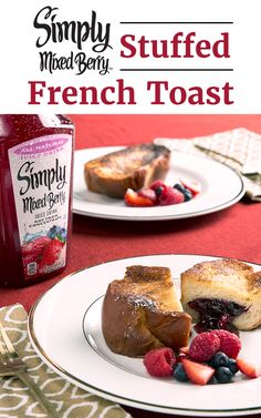You can't go wrong when you serve French toast for breakfast. Make it even better with Simply Mixed Berry™ Stuffed French Toast. Combine the refreshingly delicious taste of Simply Mixed Berry Juice Drink with crushed berries to create a jam that's at the center of every bite.