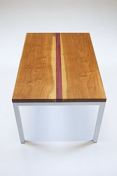 Coffee Table Cherry And Purple Heart Wood