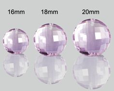 SmartyHands.com: Lavender Amethyst coin cut FRONT hole 18mm / 1pc