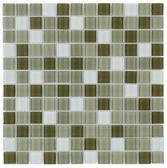 Glass Mosaic Tile Backsplash Army Blend 1x1